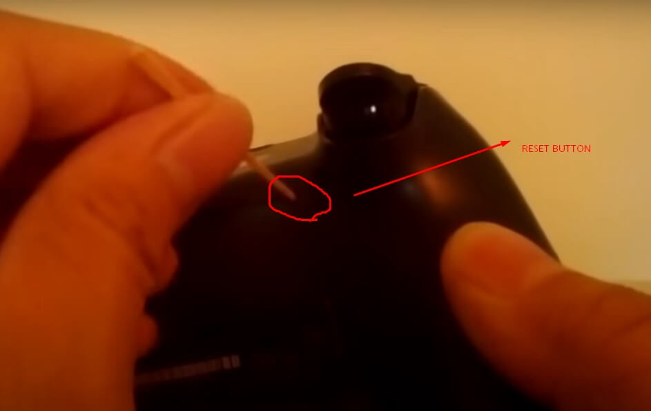 ps4 reset button
